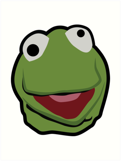 413x549 Kermit The Frog Face Art Prints By Itzalfie Redbubble