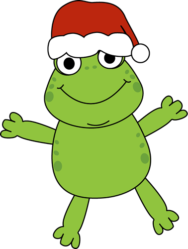 378x500 Toad Clipart Christmas