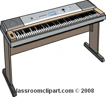 350x321 Electric Organ Clipart