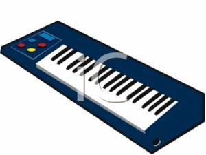 300x225 Electric Piano Keyboard Clipart