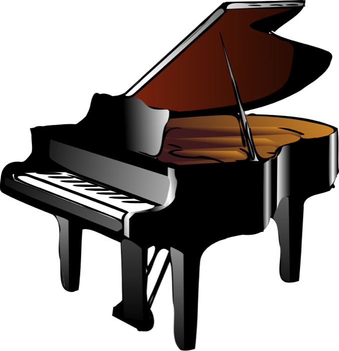 677x700 Keyboard And Piano Clipart