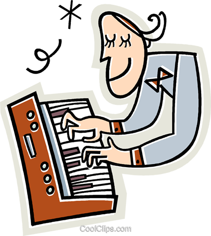 429x480 Musician Playing The Keyboard Royalty Free Vector Clip Art