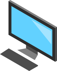 240x299 Computer Screen And Keyboard Clip Art