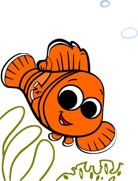 534x700 Baby Nemo Clipart