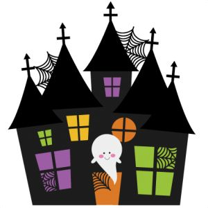 300x300 Kids Haunted House Clipart