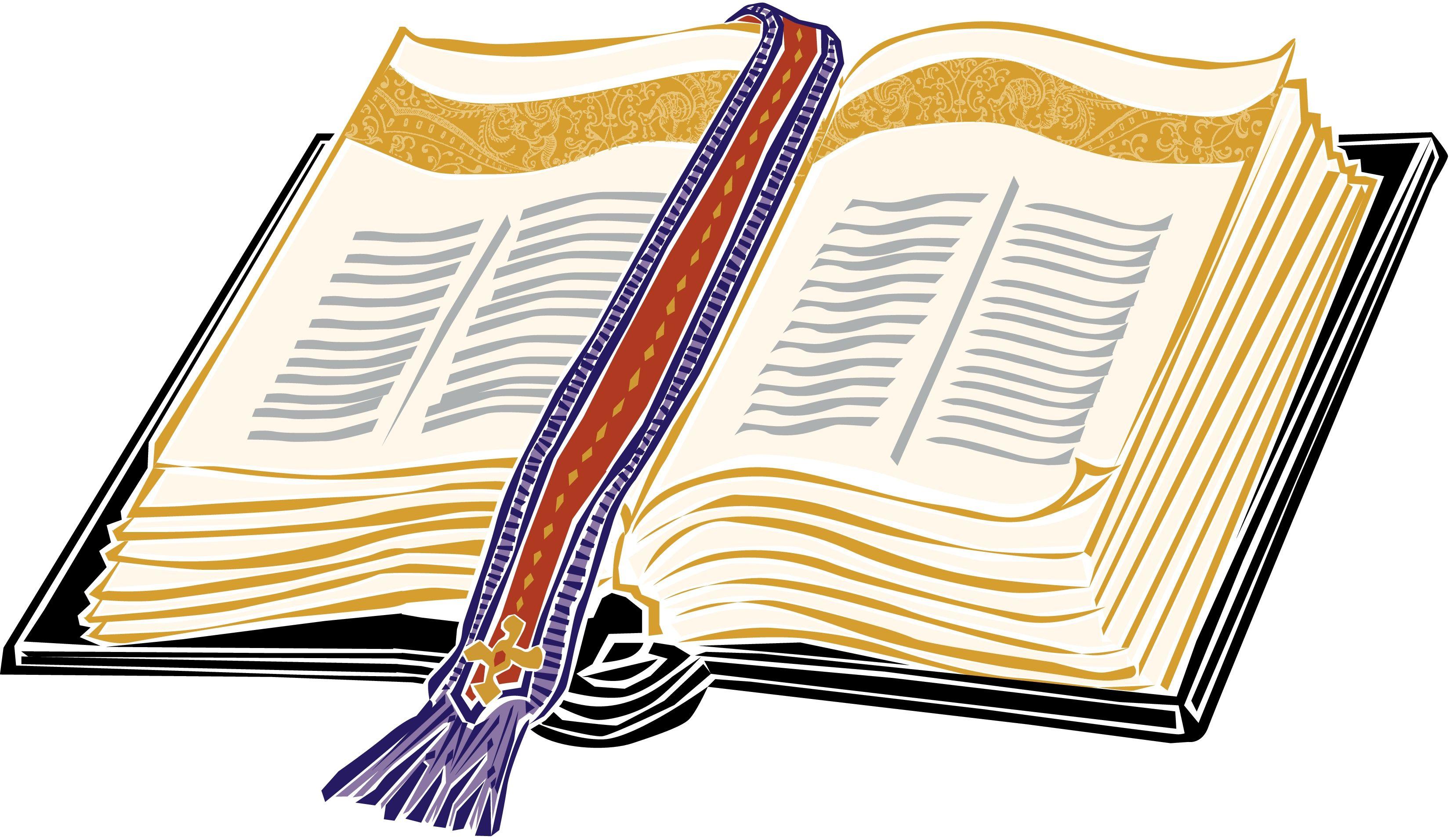 3300x1912 Gold Open Christian Bible Clipart