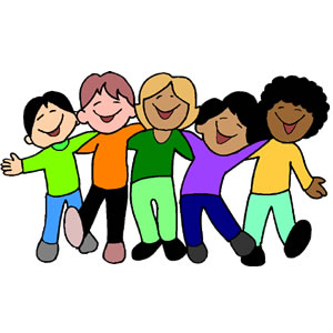 300x300 Clip Art Of 5 Kids In A Line Clipart Panda