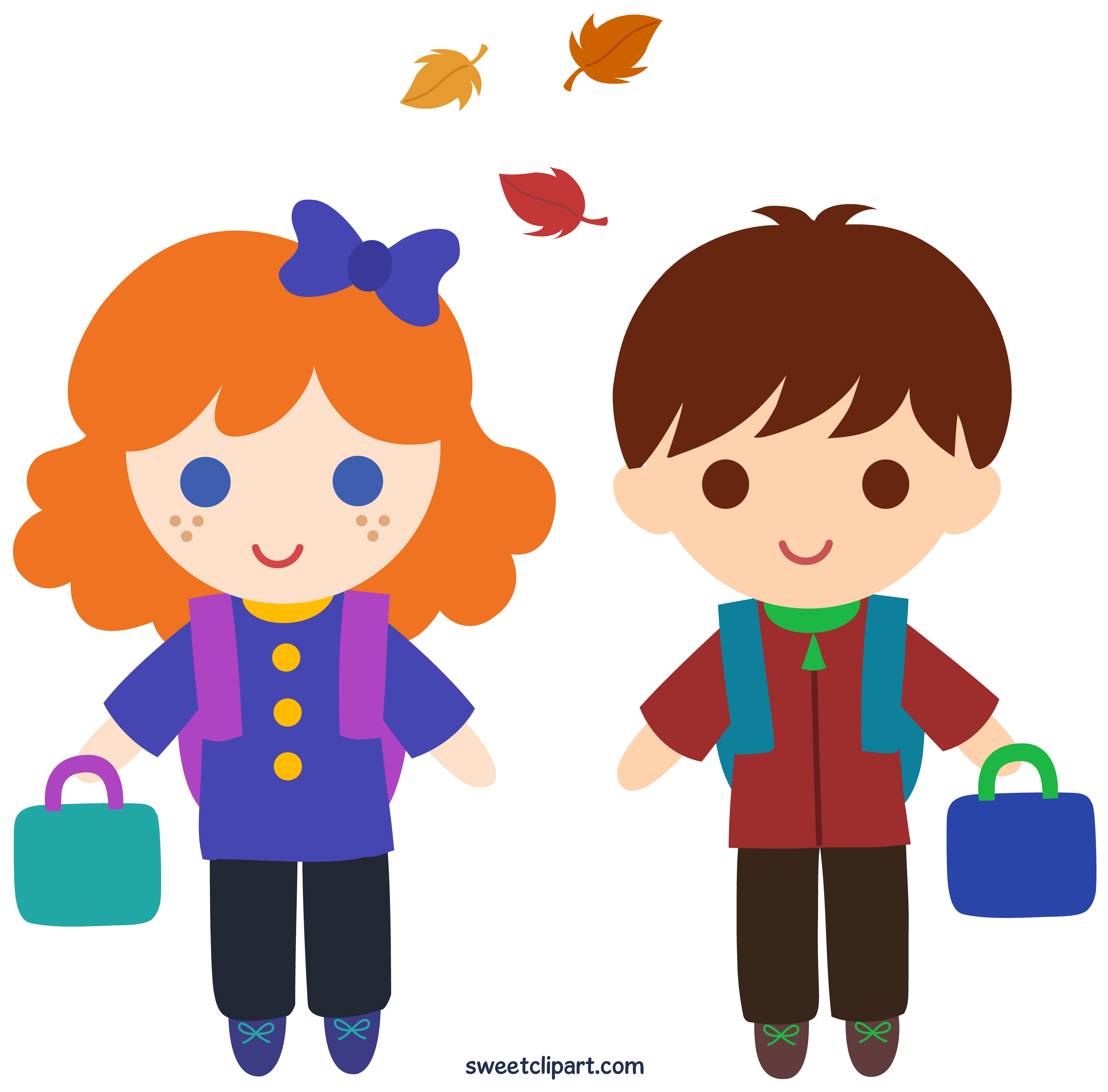 6147x6059 Back To School Kids Clipart