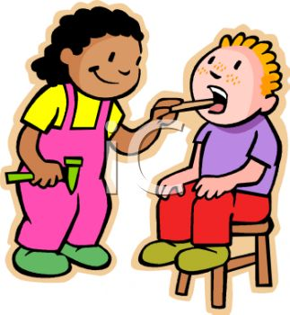 323x350 Children Playing Doctor Clip Art