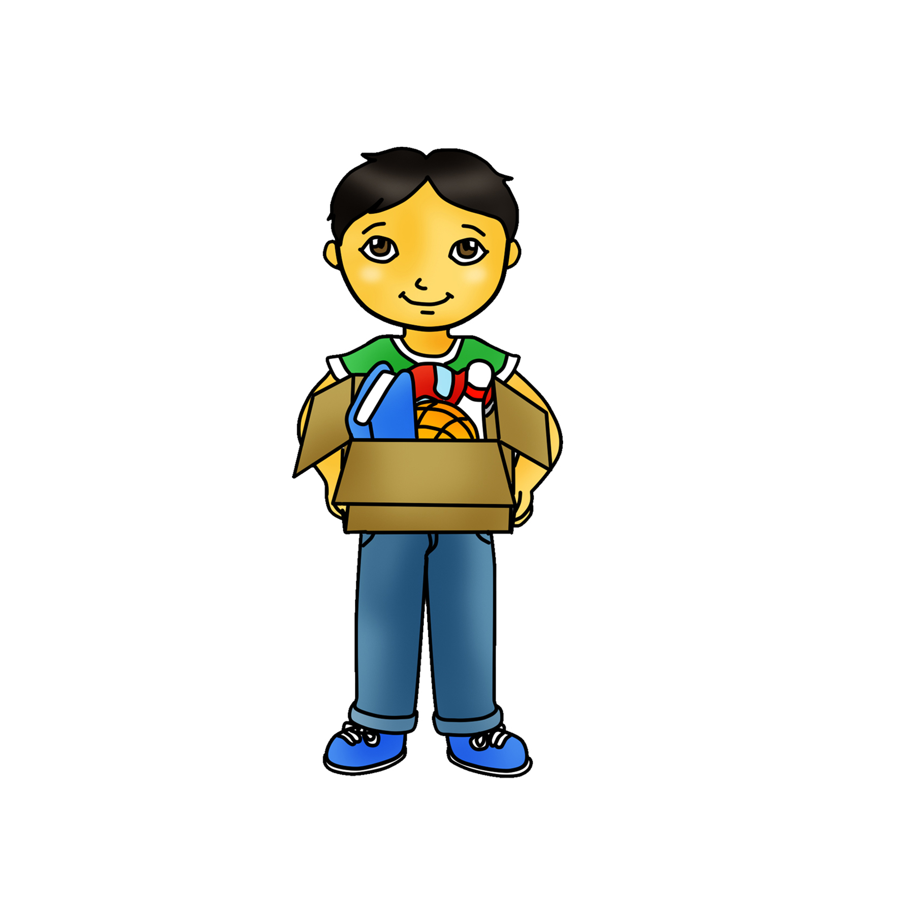 1800x1800 Kid Holding Box Clipart Graphic