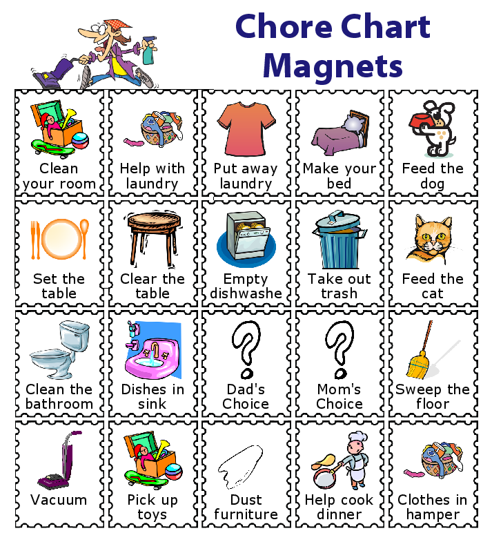 713x785 Make A Magnetic Checklist For Your Kids School Checklist