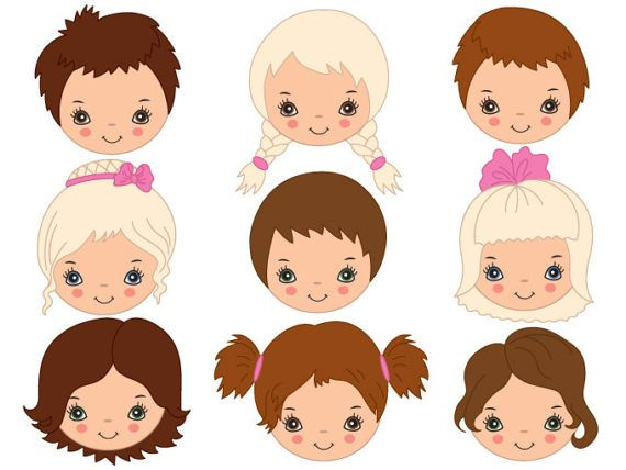 570x428 Kids Faces Clipart