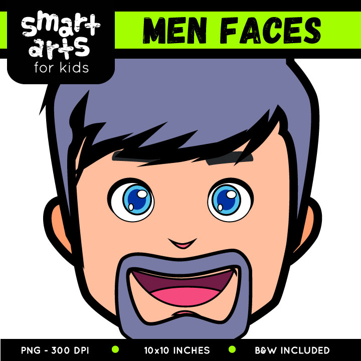 720x720 Men Faces Clip Art Smart Arts For Kids