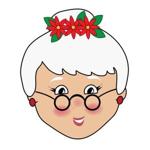 300x300 Mrs Santa Face Craft Image Kids Free Christmas Clip Art Image