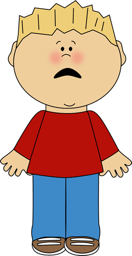 258x500 Boy With A Scared Face Emocje Face, Clip Art