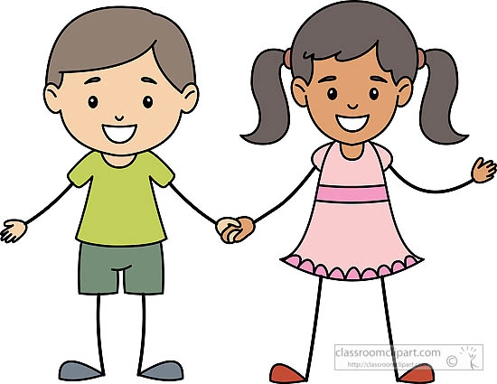 Kids Holding Hands Clipart
