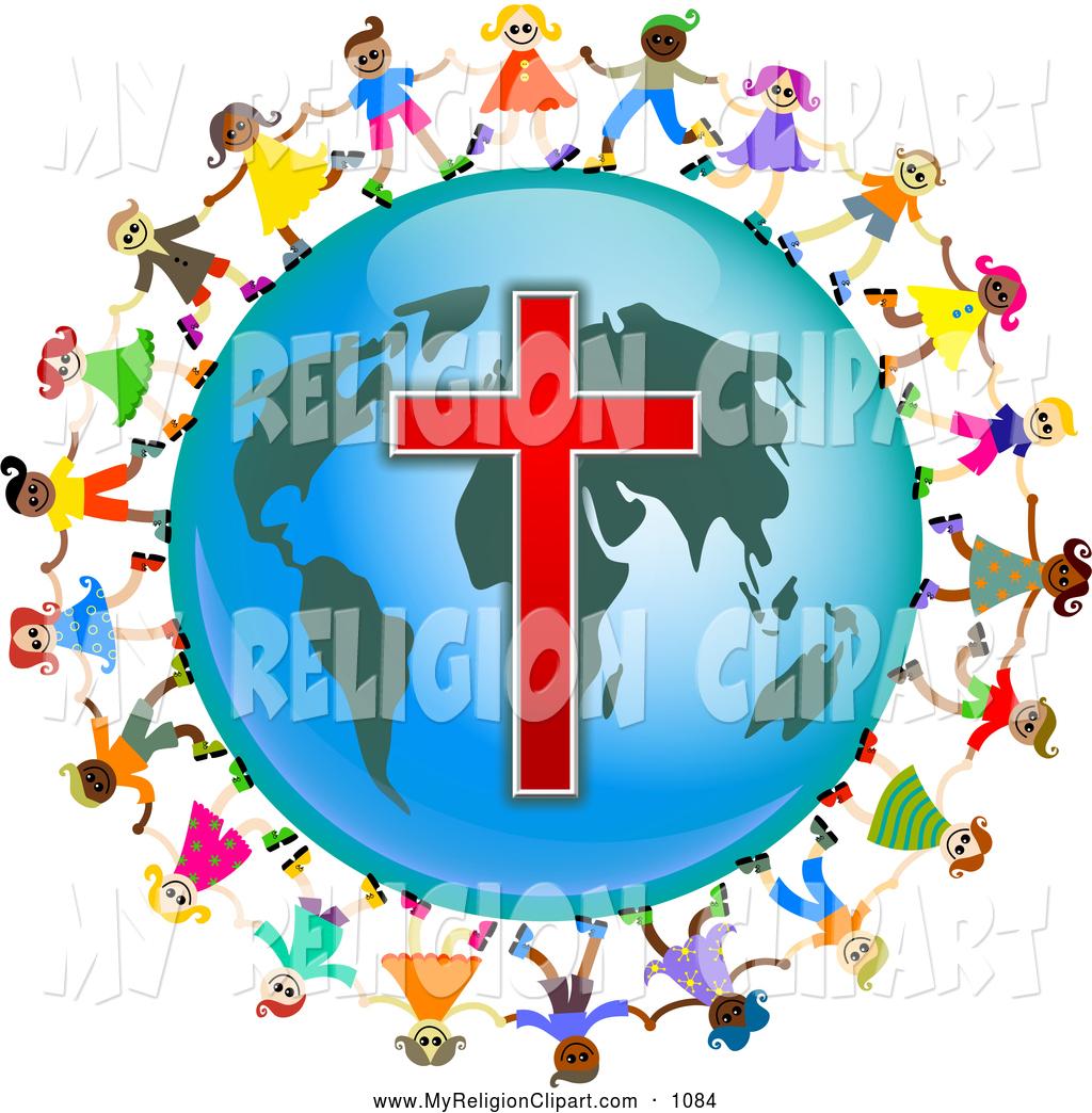 1024x1044 Religion Cliprt Of Diverse Christian Kids Holding Handsround