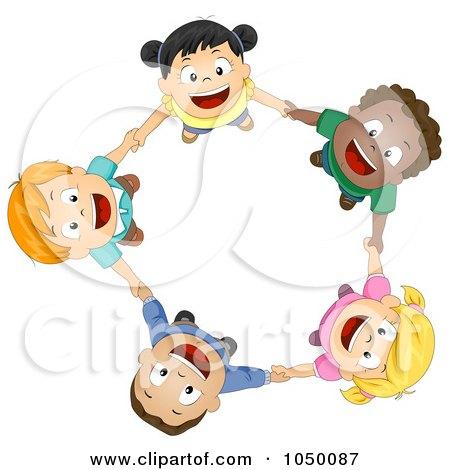 450x470 Royalty Free (Rf) Clip Art Illustration Of Diverse Kids Holding