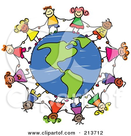 450x470 Royalty Free (Rf) Clipart Illustration Of A Circle Of People