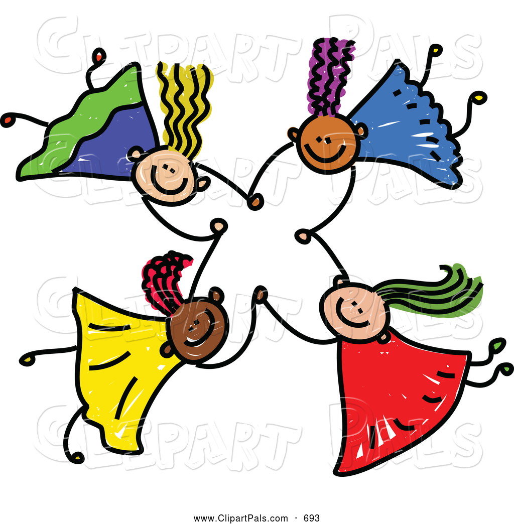 1024x1044 Startling Holding Hands Clipart Pal Of A Childs Sketch Four Kids