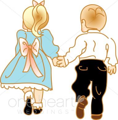 383x388 Clipart Kids Holding Hands Wedding Kids Clipart