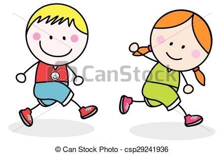 450x310 Kids Jogging Clipart
