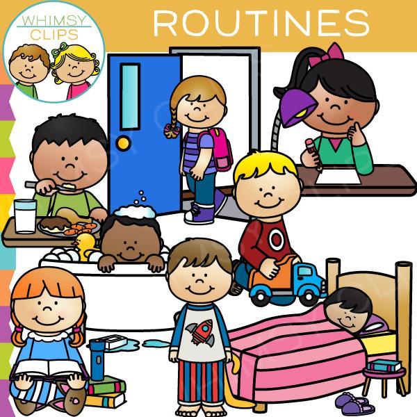 600x600 Kids Routines Clip Art , Images Amp Illustrations Whimsy Clips