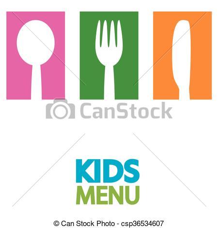 450x470 Kids Menu Background Design Illustration Vector Clipart