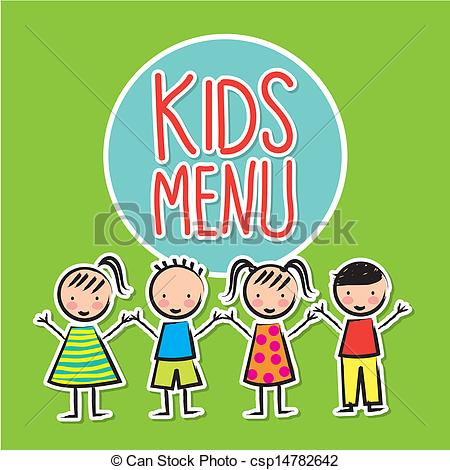 450x470 Kids Menu Over Green Background Vector Illustration Eps Vector