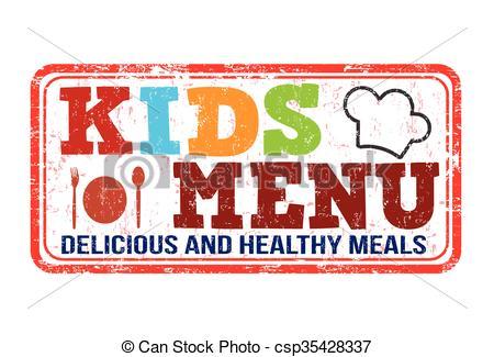 450x325 Kids menu stamp. Kids menu grunge rubber stamp on white vectors