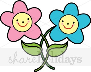 300x239 Smiling Flowers Clipart Easter Clipart