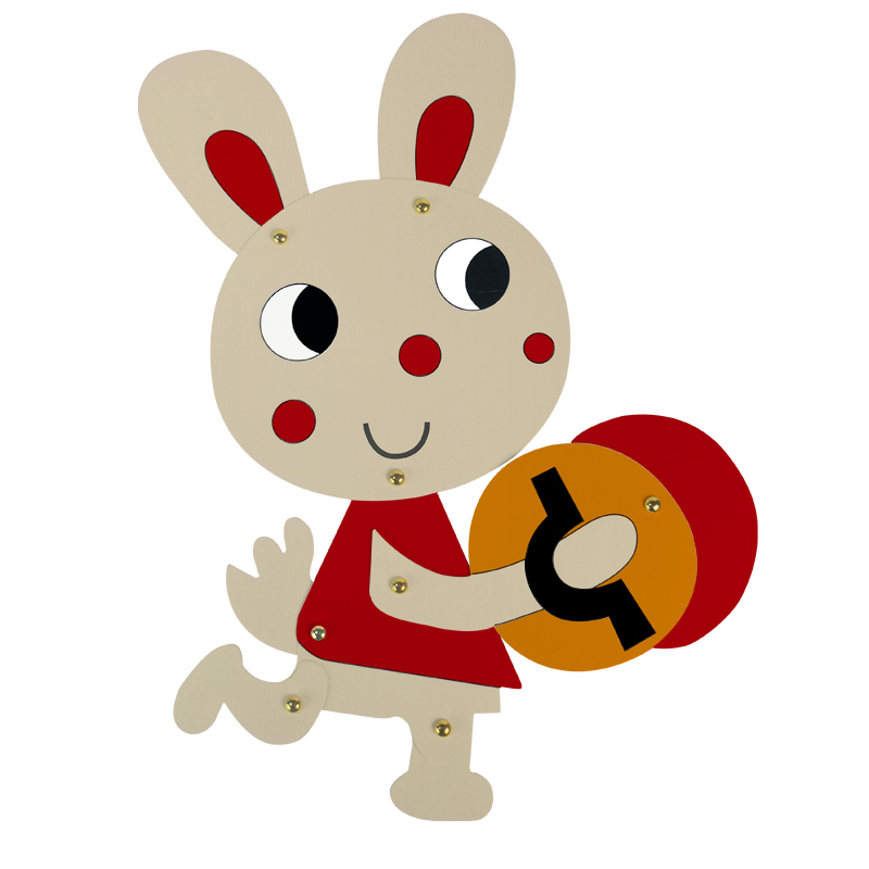 800x800 Cute Easter Bunny Painting Decoration Rabbit Cardboard Craft Kids