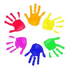 230x233 Finger Painting Clip Art