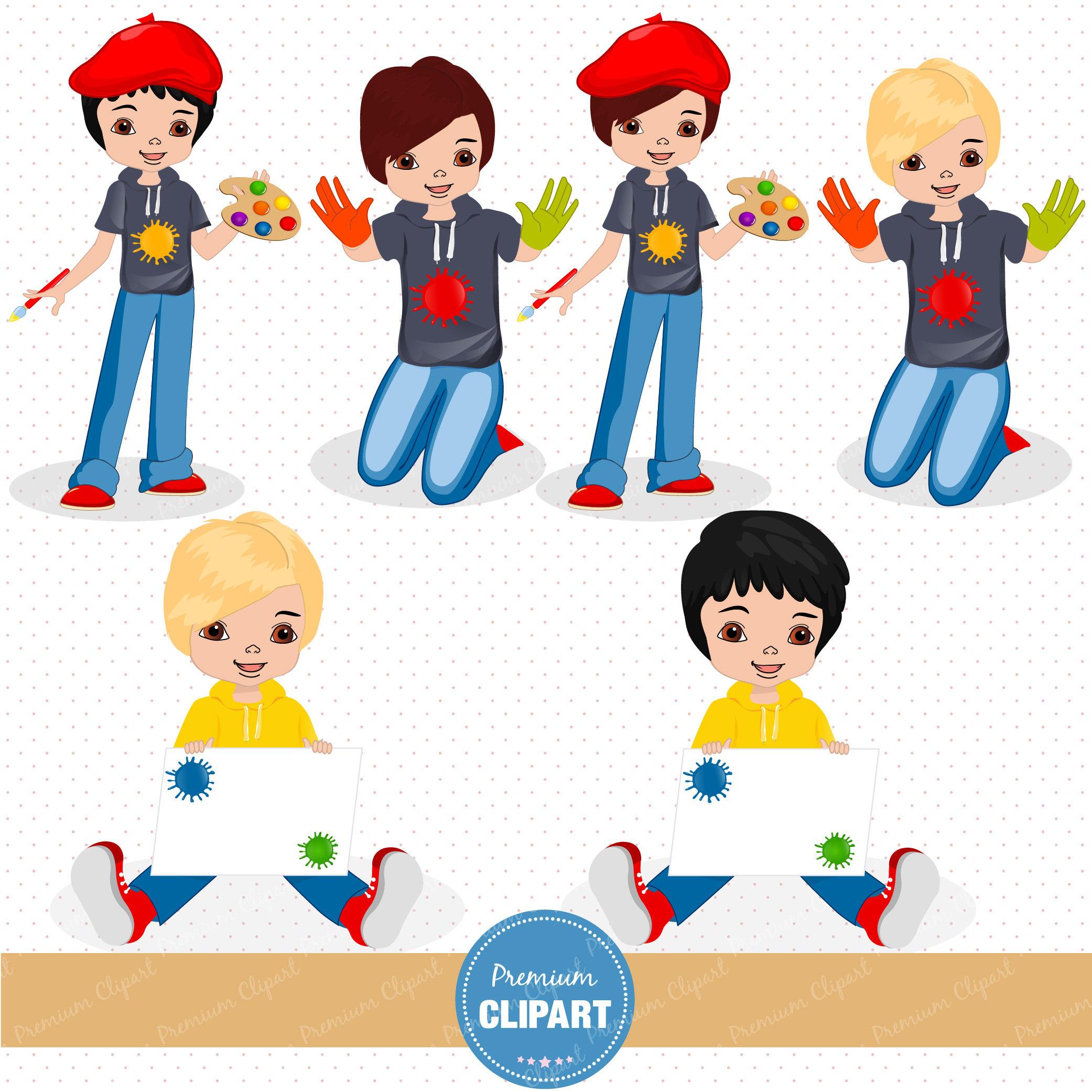 2083x2083 Painting Party Clipart, Art Party Clipart, Little Artist Clipart