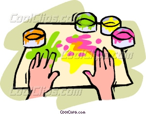 300x234 Finger Painting Vector Clip Art