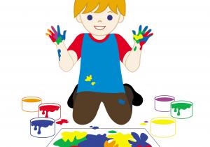 300x210 Cartoon Child Drawing Paint Clipart Cartoon