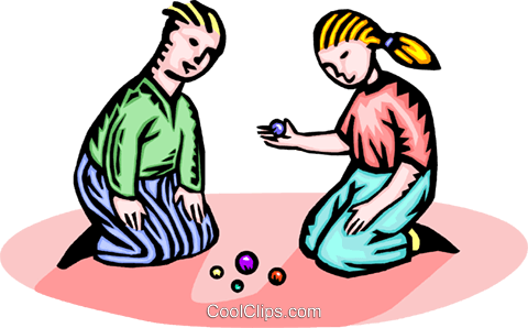 480x298 Two Children Playing Royalty Free Vector Clip Art Illustration