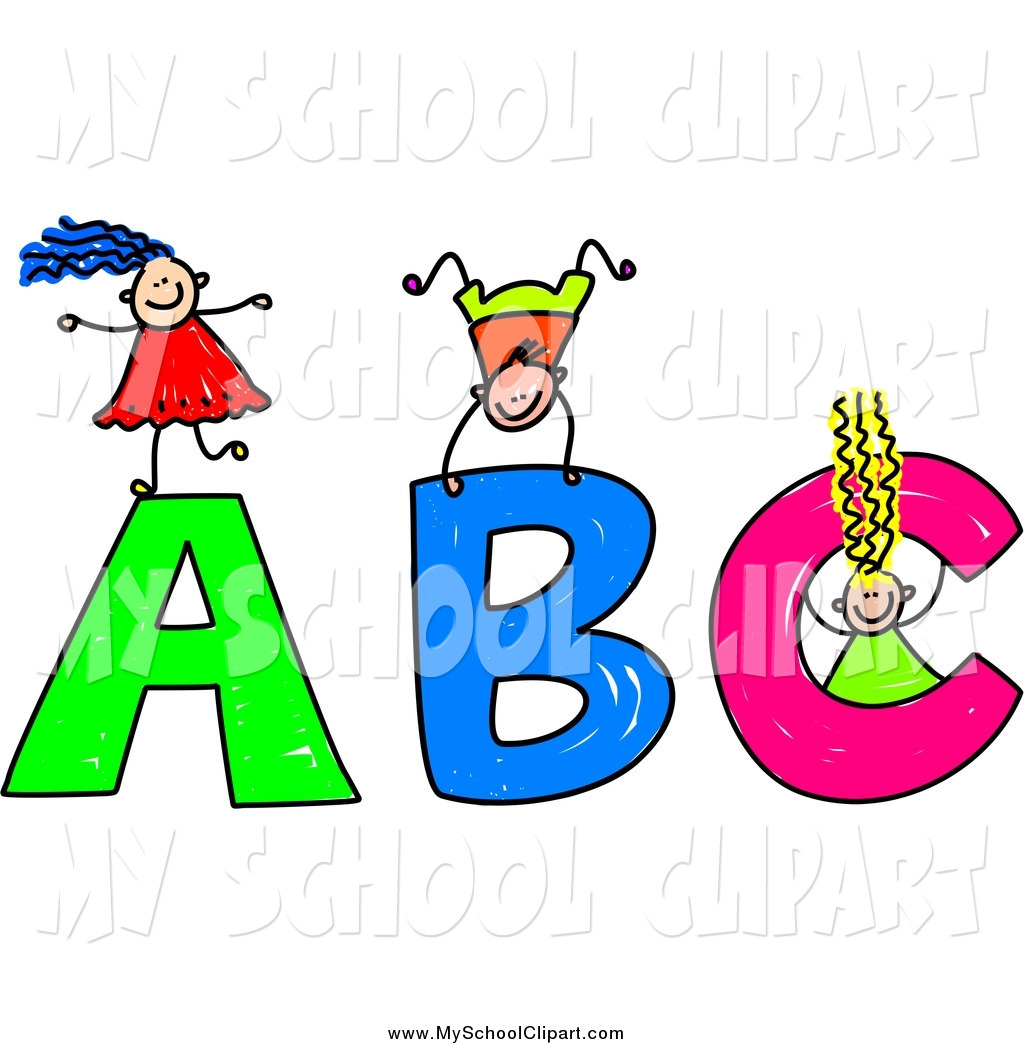 1024x1044 Clip Art Of Stick Kids Playing On Giant Abc Letters By Prawny
