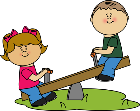 450x359 Children On A See Saw Clip Art Clip Art Outside