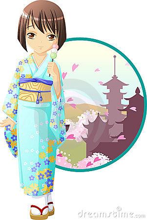 301x450 Clip Art Girl In Kimono Cliparts
