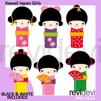 350x350 Japan Kimono Girls Clipart By Revidevi Teachers Pay Teachers