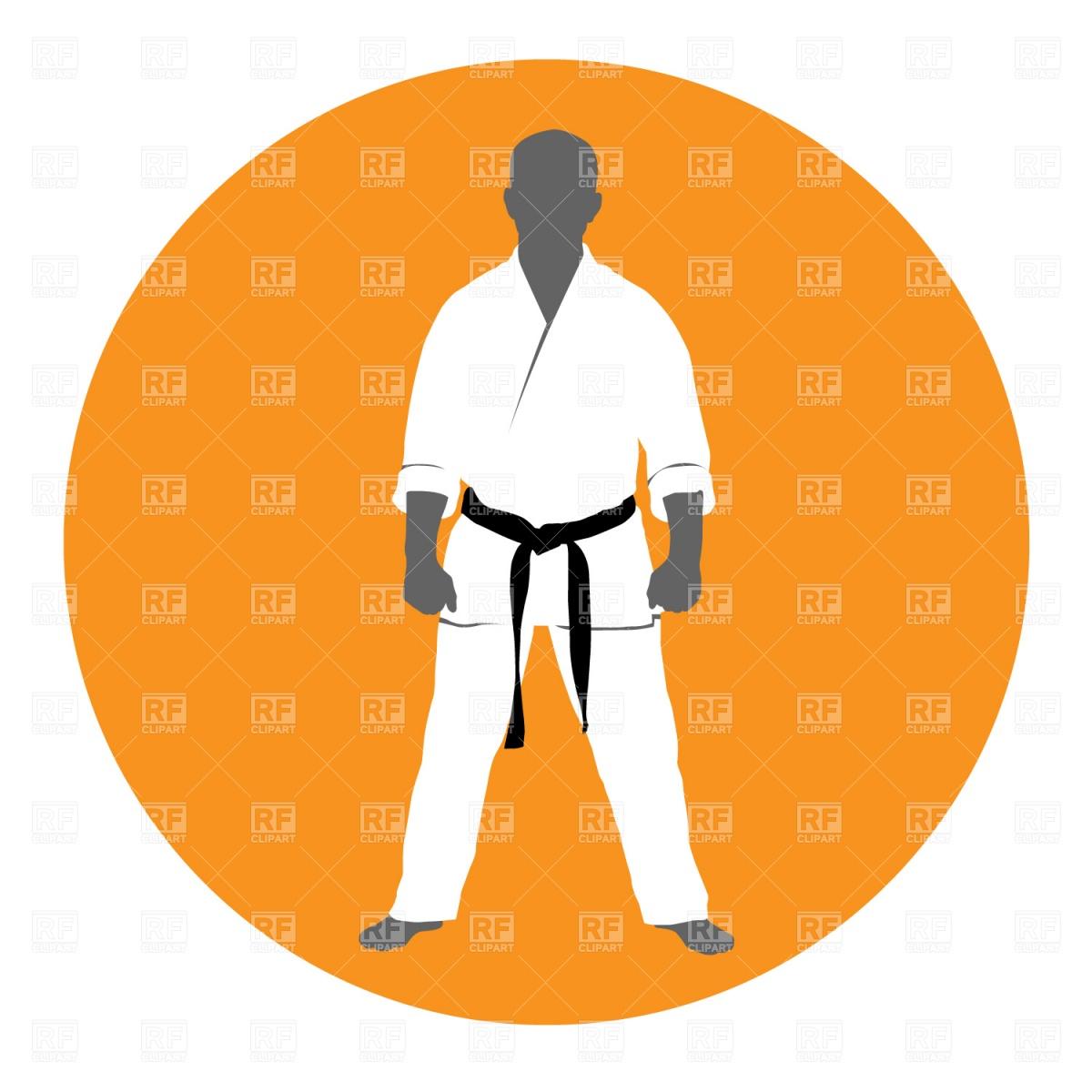 1200x1200 Master Of Martial Art In Kimono Royalty Free Vector Clip Art Image