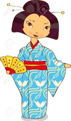 236x401 Kimono Art Clipart Picture Of A Geisha Dancing In A Purple