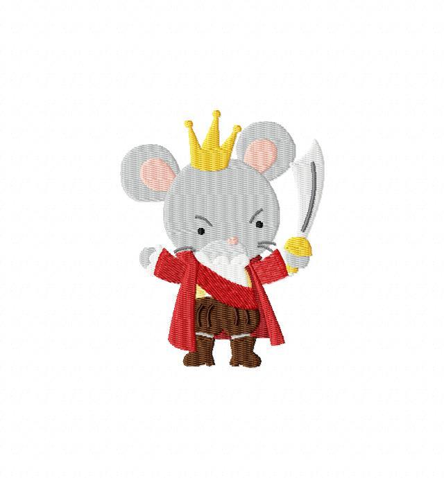 640x690 Mouse King Clip Art