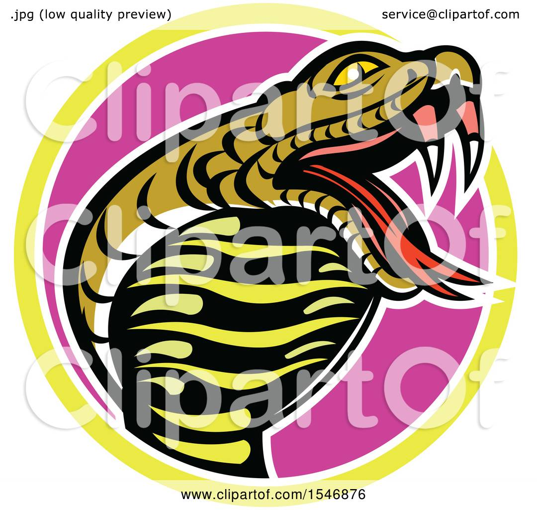 1080x1024 Clipart Of A King Cobra Snake Mascot In A Circle