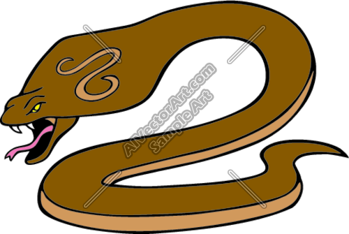 500x335 King Cobra Snake Graphic Clipart And Vectorart Sports Mascots