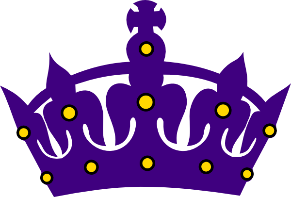 600x406 Purple Crown With Gold Clip Art