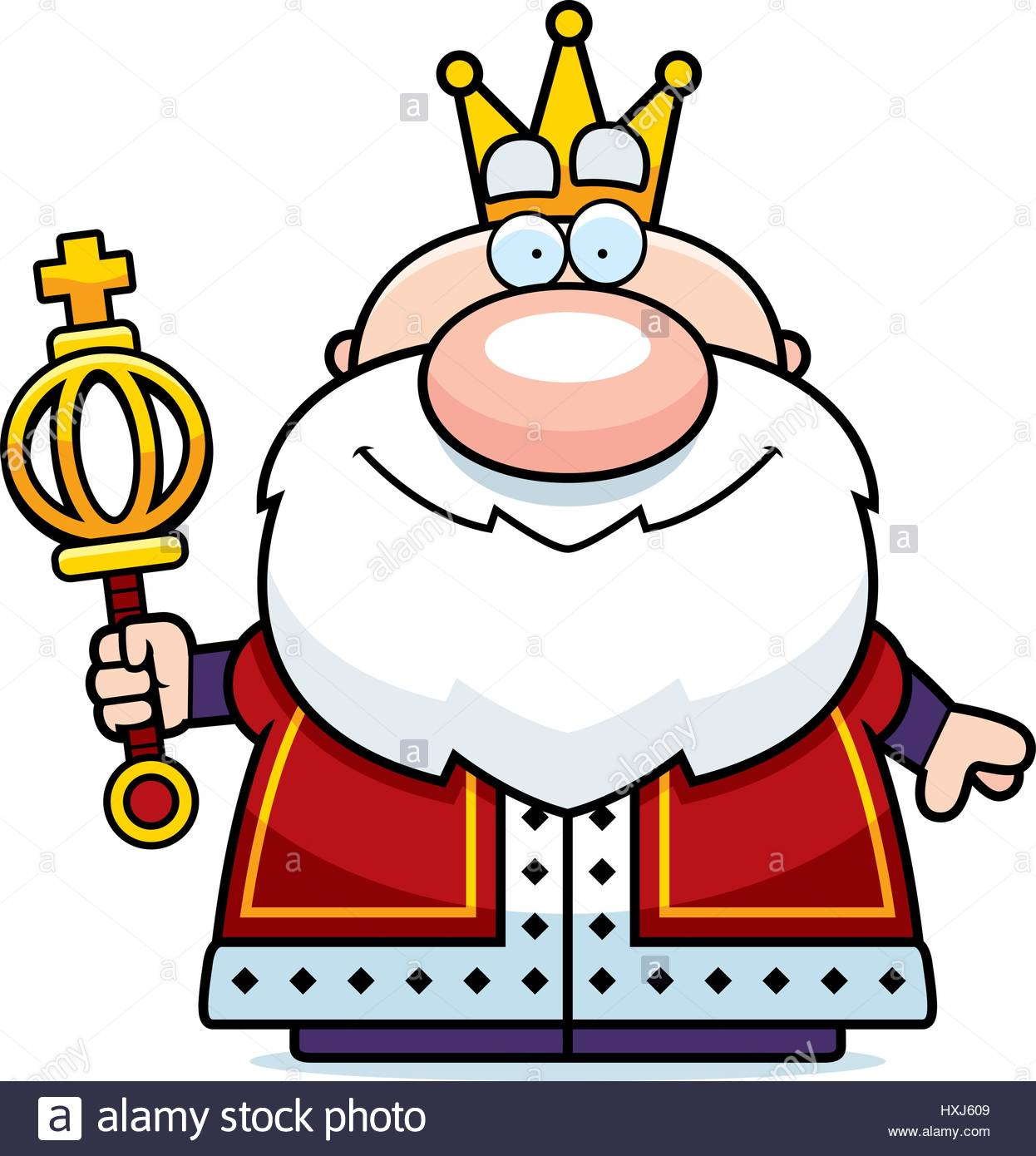 1246x1390 A Cartoon Illustration Of A King With A Scepter Stock Vector Art