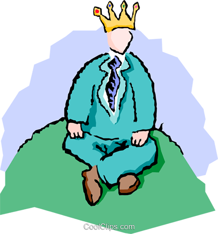 447x480 King Of The Hill Royalty Free Vector Clip Art Illustration