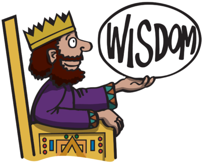 400x320 Image King Solomon Sitting On His Throne And Holding Up The Word